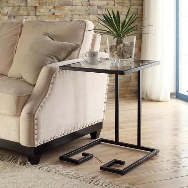 Avery Glass Top Accent Table