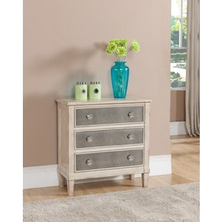 Treasure Trove Accents Liberty Hill Ivory Three Drawer Chest