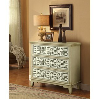 Treasure Trove Accents Laban Ivory and Grey Three Drawer Chest