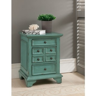 Treasure Trove Accents Bayberry Blue Three Drawer Chest