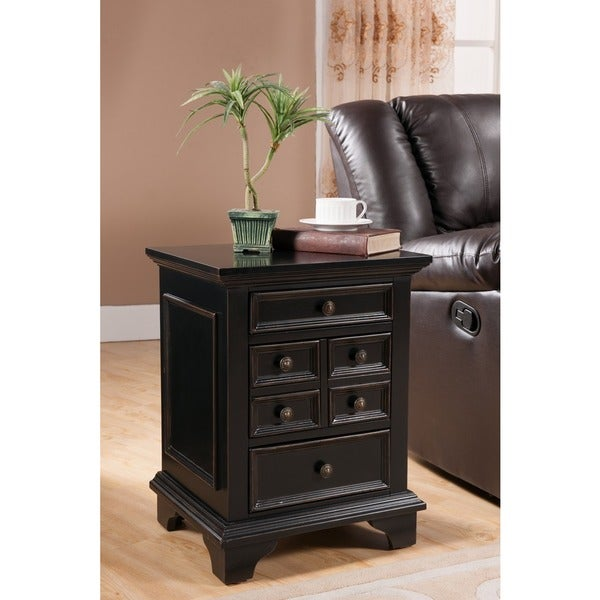 Treasure Trove Accents Lewis Park Black Three Drawer Chest