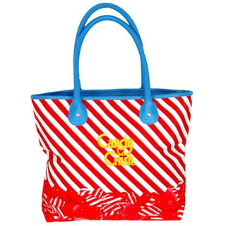 Candy Crush Striped Red Tote Bag