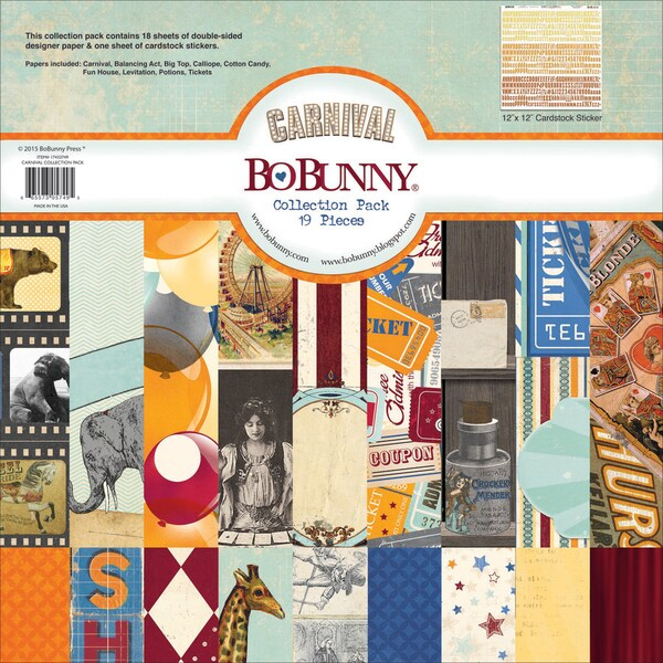 BoBunny Collection Pack 12inX12inCarnival