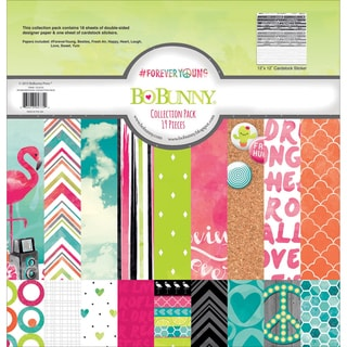 BoBunny Collection Pack 12inX12in#Forever Young