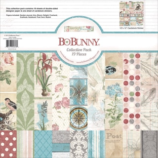 BoBunny Collection Pack 12inX12inGarden Journal