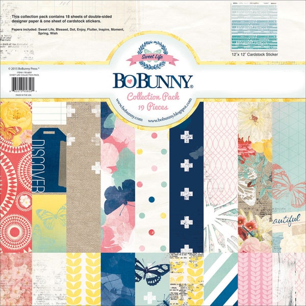 BoBunny Collection Pack 12inX12inSweet Life