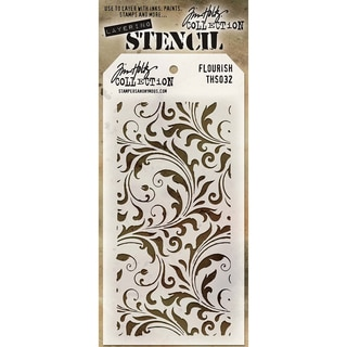 Tim Holtz Layered Stencil 4.125inX8.5inFlourish