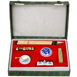 Mandarin Calligraphy and Chop Set (China)