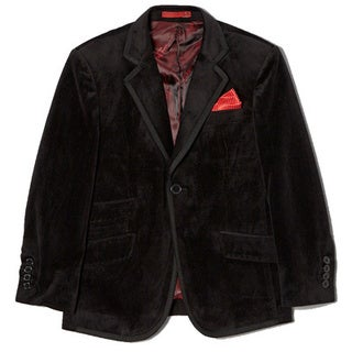 Boys' Slim-fit Velvet 1-button Jacket