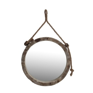 Privilege Rope Wooden Wall Mirror