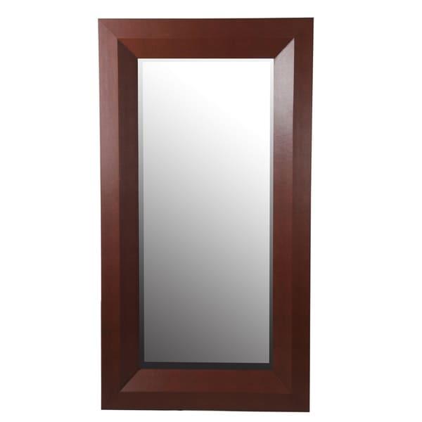 Privilege Brown 63-inch Shagreen Wall Mirror