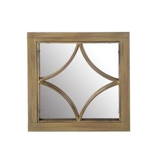 Privilege Wood And Metal Mirror