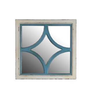 Privilege Diamond Wooden Wall Mirror