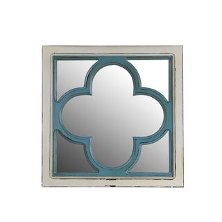 Privilege Clover Wooden Wall Mirror