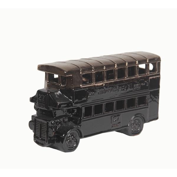 Privilege Copper/ Black Ceramic Double Deck Bus
