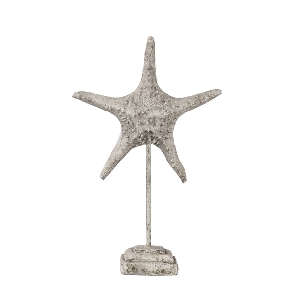 Privilege Stone Large Ceramic Starfish on Stand