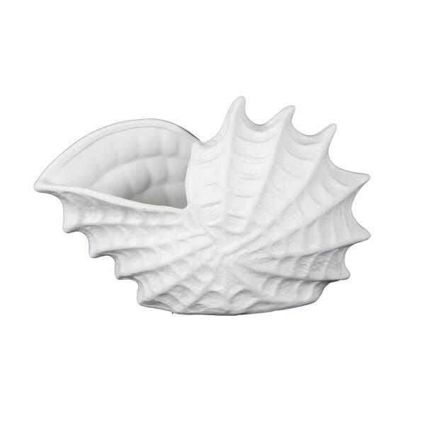 Privilege White Ceramic Sea Shell