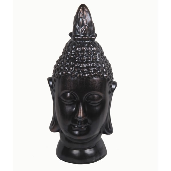 Privilege Dark Grey Dark Grey Ceramic Buddah Head