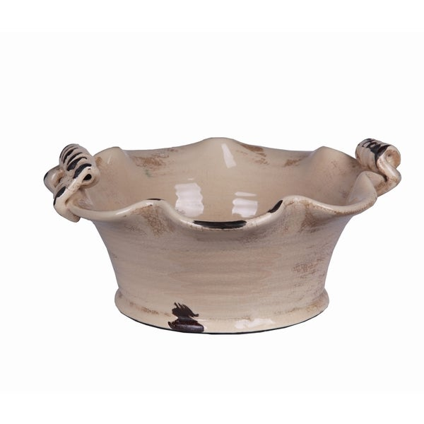 Privilege Beige Ceramic Bowl