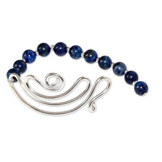 Handcrafted Sterling Silver 'In Visions' Lapis Lazuli Bracelet (Peru)