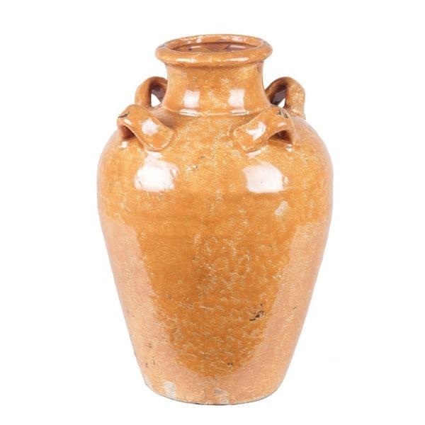 Privilege Orange Large Ceramic Pot