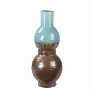 Privilege Large Turquoise Drip Ceramic Vase