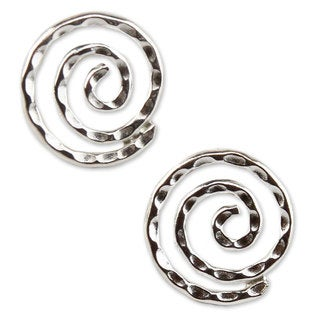 Handcrafted Sterling Silver 'Andean Cosmos' Earrings (Peru)