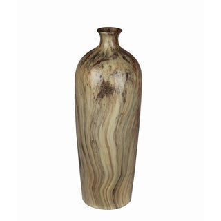 Privilege Green Marble Finish Small Ceramic Vase