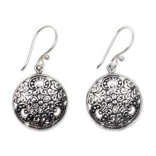 Handcrafted Sterling Silver 'Sacred Moon' Earrings (Indonesia)