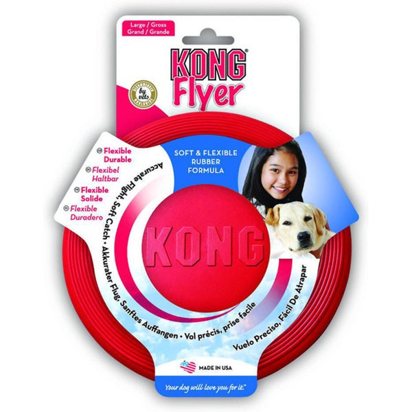KONG Flyer Rubber Disc Pet Toy