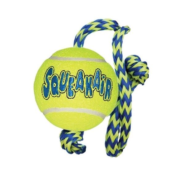 Kong Medium Squeakair Ball with Rope