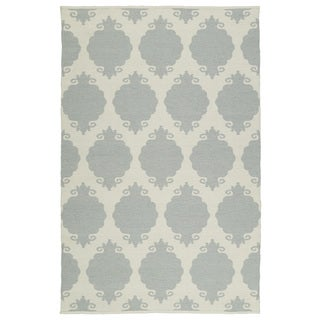 Indoor/Outdoor Laguna Grey Medallions Flat-Weave Rug (9'0 x 12'0)