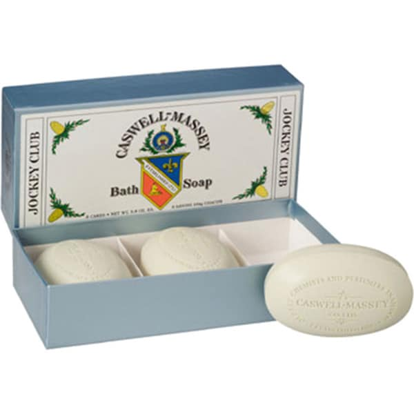 Caswell-Massey Jockey Club Bath Soap (Pack of 3)