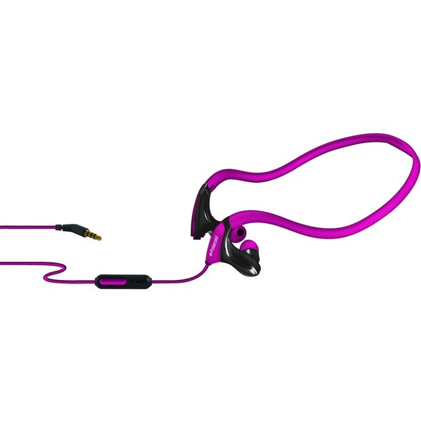 Polaroid PHP800PK Pink Sport Headphones with Mic