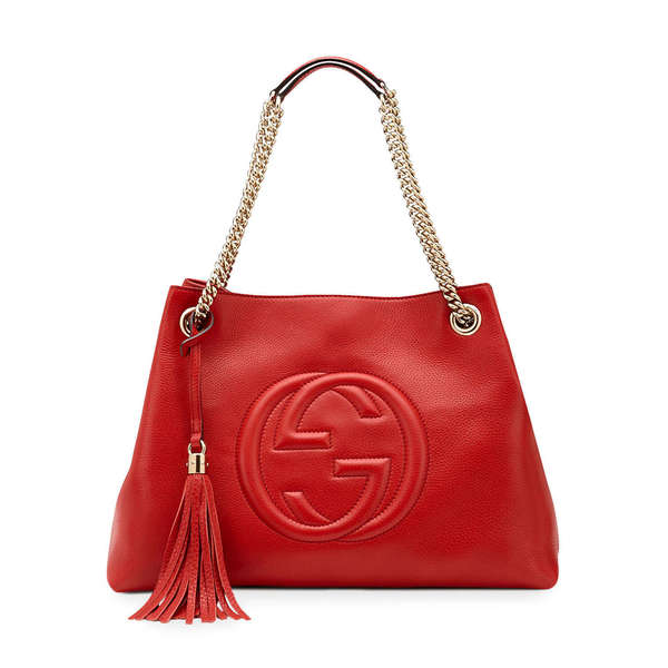 Gucci Soho Red Leather Medium Shoulder Bag