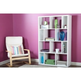 South Shore Pure White Reveal 12-compartment Shelving Unit