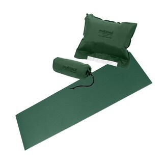 Multimat Trekker Mat and Pillow Combo in Hunter Green