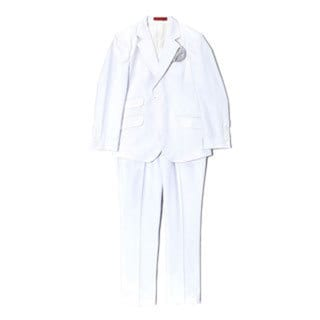Boys' Woven White 2-piece Suit