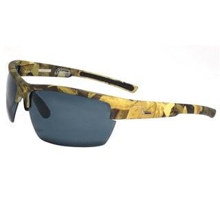 Raptor Green Camouflage Half Frame with Smoke Lens Sunglasses