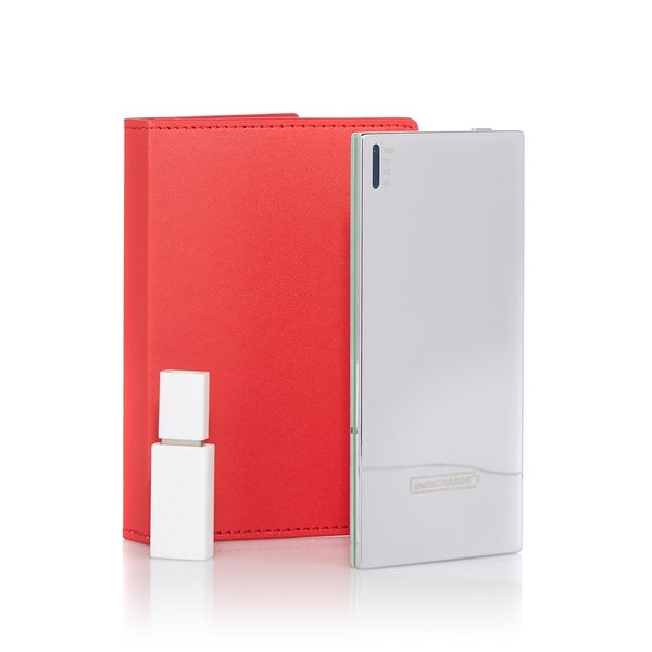 instaCHARGE 3500mAh Portable Power Bank Charger with RFID Wallet