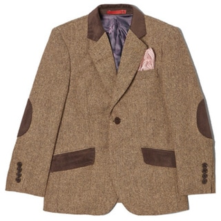 Boys' Wool Blend Tweed 1-button Jacket