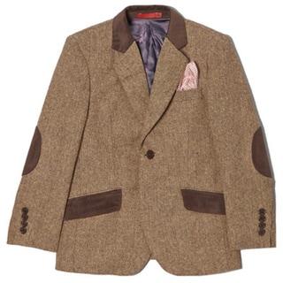 Boys' Wool Blend Tweed 1-button Jacket