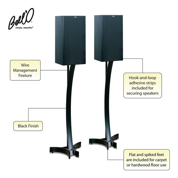 Bell'O Heavy Duty 36-inch Black Speaker Stands