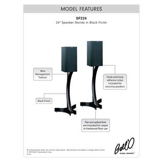 Bell'O Heavy Duty Speaker Stands 24-inch High