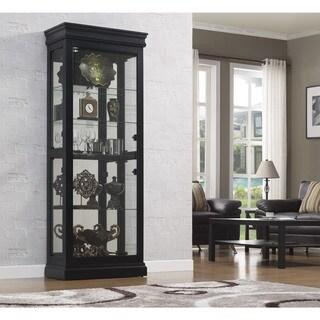 Bell'O Louie Philip Black Curio Cabinet