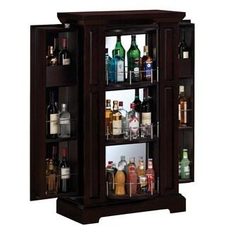 Bell'O BC2426-E451-31 Espresso Metro Liquor Cabinet with Expanding Side Storage