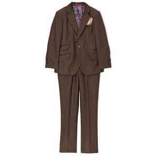 Boys' Wool Blend Pinstripe 2-piece Suit