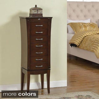 Wood 7-drawer Jewelry Armoire