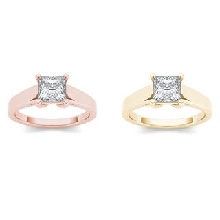 De Couer 14k Gold 1ct TDW Diamond Classic Engagement Ring (H-I, I2)