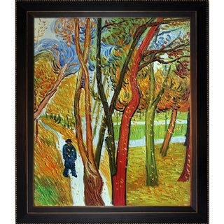 Vincent Van Gogh 'The Walk -Falling Leaves' Hand Painted Framed Canvas Art